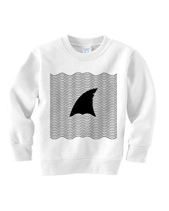 New S. Beach shark TODDLERS' FLEECE SWEATSHIRT