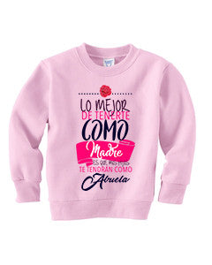 Love Mom TODDLERS' FLEECE SWEATSHIRT