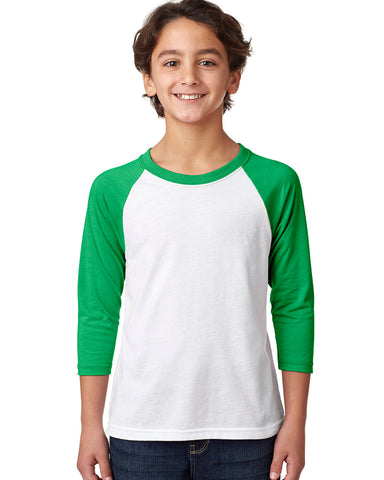 YOUTHS' 3/4 SLEEVED RAGLAN
