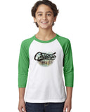 Chicago Skyline YOUTHS' 3/4 SLEEVED RAGLAN