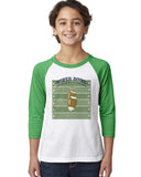 Super Bowl GO YOUTHS' 3/4 SLEEVED RAGLAN