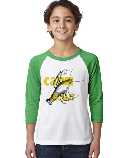 Lobster in Cancun YOUTHS' 3/4 SLEEVED RAGLAN