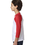 New York NOW YOUTHS' 3/4 SLEEVED RAGLAN