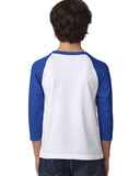 Hidden Rabbit YOUTHS' 3/4 SLEEVED RAGLAN