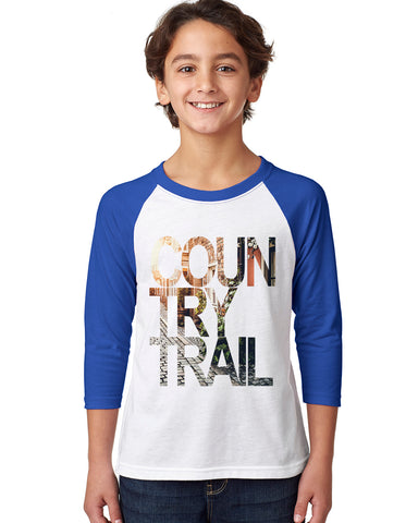 Country Trail YOUTHS' 3/4 SLEEVED RAGLAN