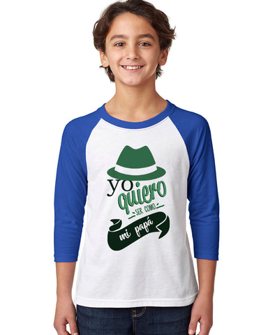 To be a father YOUTHS' 3/4 SLEEVED RAGLAN