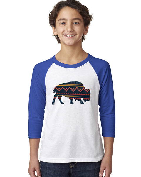 Bufalo YOUTHS' 3/4 SLEEVED RAGLAN