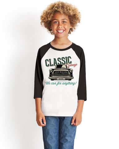 Classic 365 YOUTHS' 3/4 SLEEVED RAGLAN