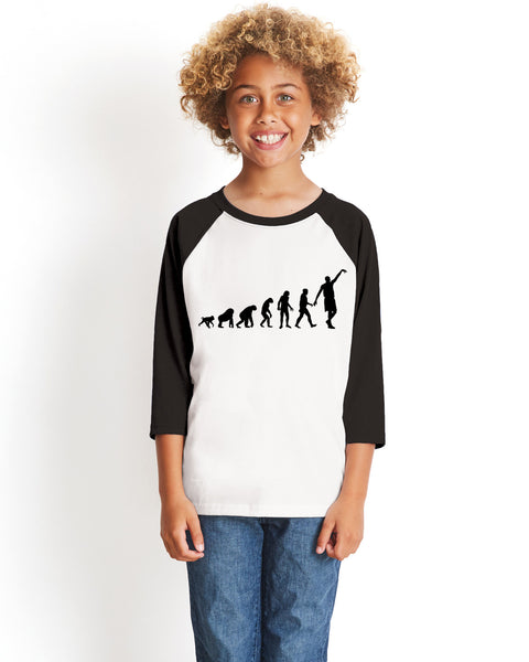Human revolution YOUTHS' 3/4 SLEEVED RAGLAN