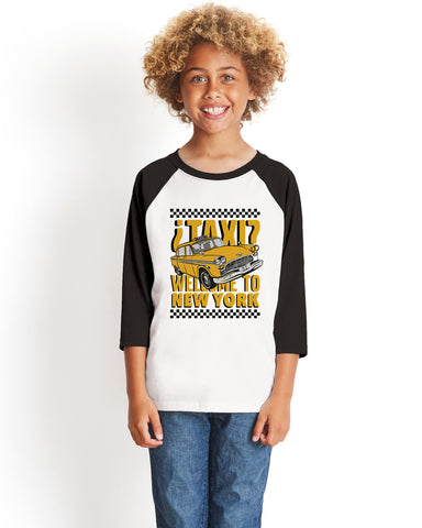 Viva Hey Taxi YOUTHS' 3/4 SLEEVED RAGLAN
