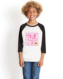 True Friendship YOUTHS' 3/4 SLEEVED RAGLAN