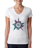 Getting Around in NYC LADIES' V-NECK T-SHIRT