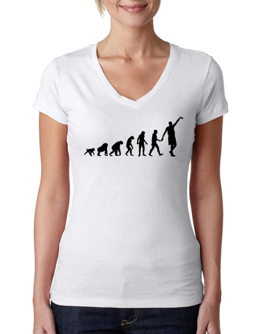 Human revolution LADIES' V-NECK T-SHIRT