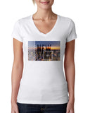 New York Twilight LADIES' V-NECK T-SHIRT