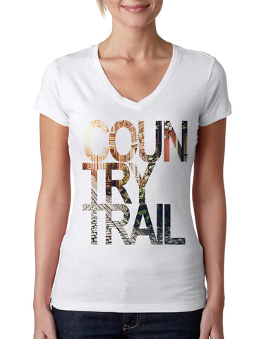 Country Trail LADIES' V-NECK T-SHIRT