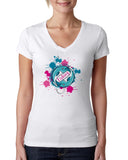 Fishing LADIES' V-NECK T-SHIRT