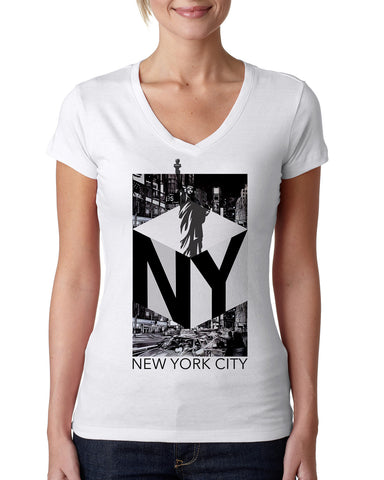 New York NOW LADIES' V-NECK T-SHIRT