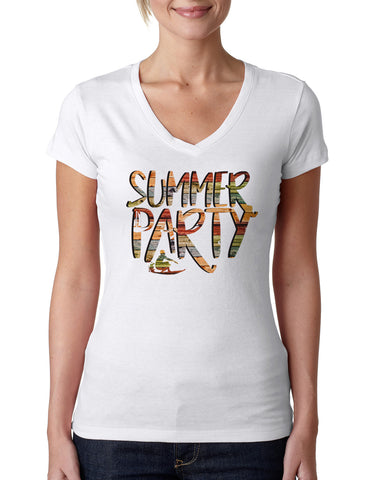 Summer Party LADIES' V-NECK T-SHIRT