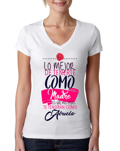 Love Mom LADIES' V-NECK T-SHIRT