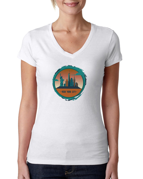 Views in New York LADIES' V-NECK T-SHIRT