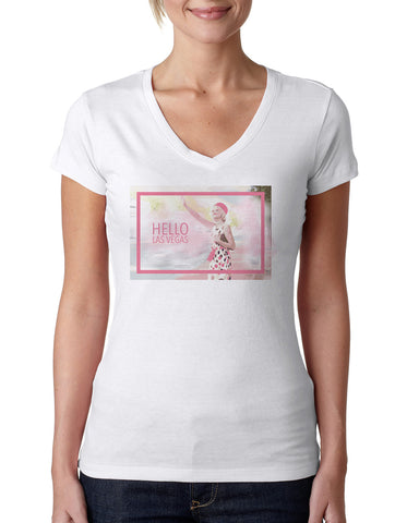 Hello LV LADIES' V-NECK T-SHIRT