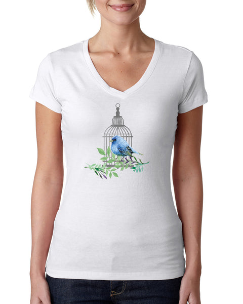 Bird Cage LADIES' V-NECK T-SHIRT