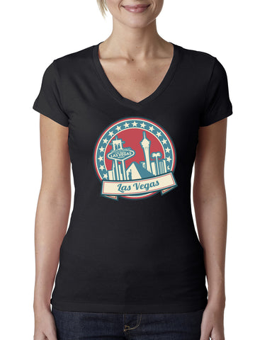 60's Las Vegas LADIES' V-NECK T-SHIRT