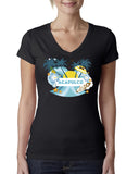 Acapulco Coconut Tree LADIES' V-NECK T-SHIRT