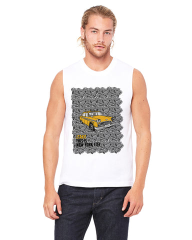 Super Taxi Wey in NY MEN'S MUSCLE TANK