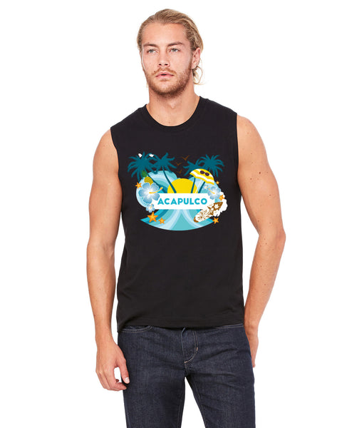 Acapulco Coconut Tree MEN'S MUSCLE TANK