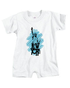 Visiting The Liberty BABYS' T-ROMPER