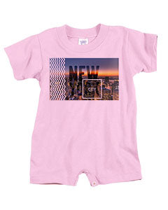 New York Twilight BABYS' T-ROMPER