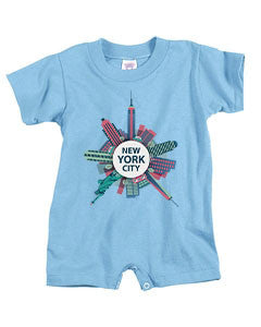 Getting Around in NYC BABYS' T-ROMPER