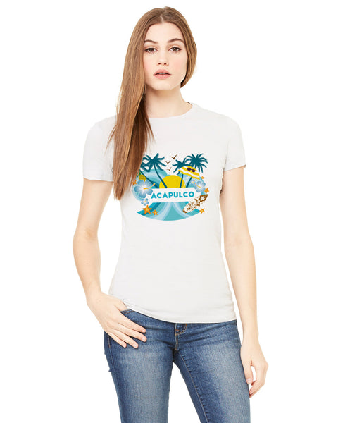 Acapulco Coconut Tree LADIES' T-SHIRT