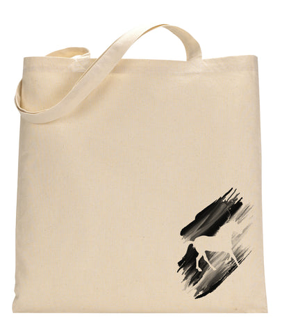 Black White Horse TOTE BAG