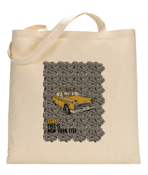 Super Taxi Wey in NY TOTE BAG