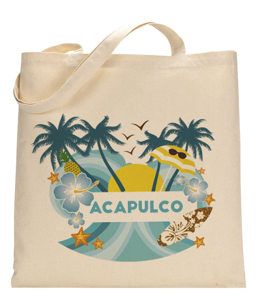 Acapulco Coconut Tree TOTE BAG