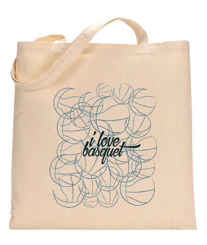 Just love basquet TOTE BAG