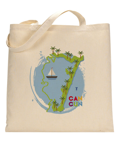 Cancun Boat TOTE BAG