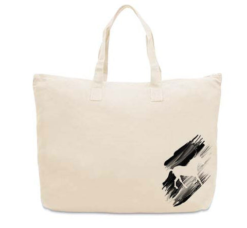 Black White Horse CANVAS TOTE