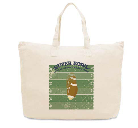 Super Bowl GO CANVAS TOTE