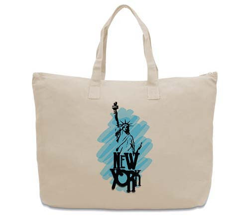 Visiting The Liberty CANVAS TOTE