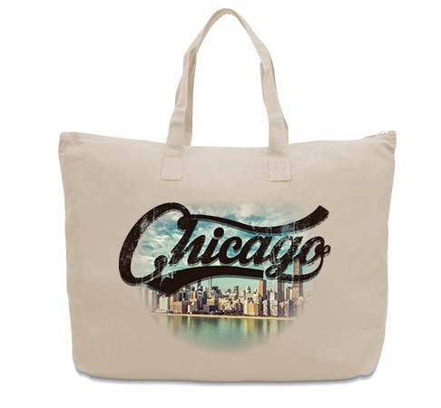 Chicago Skyline CANVAS TOTE