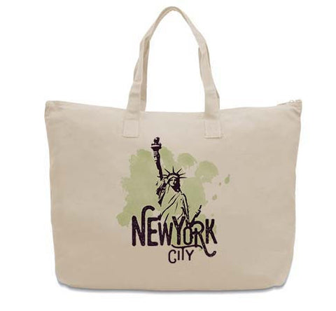 Paint your NYC CANVAS TOTE