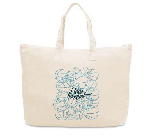 Just love basquet CANVAS TOTE