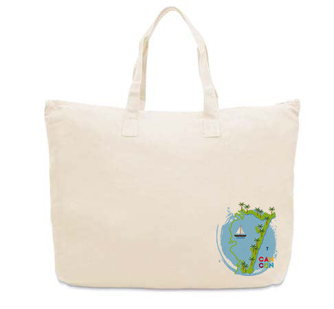 Cancun Boat CANVAS TOTE