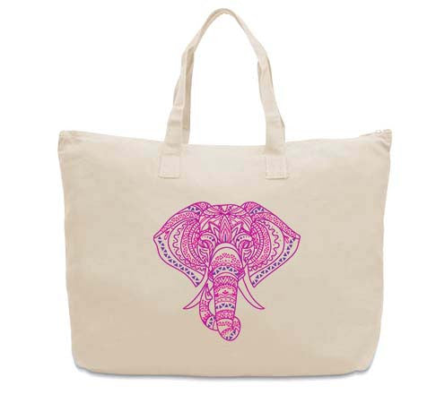 Colorful Elephant CANVAS TOTE