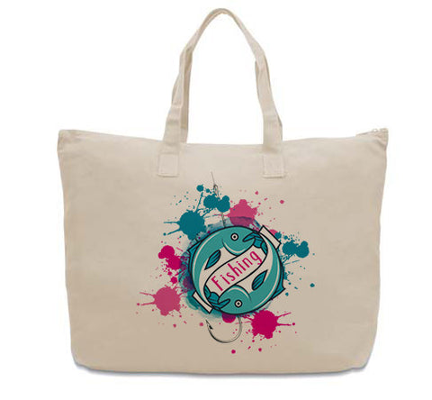 Fishing CANVAS TOTE
