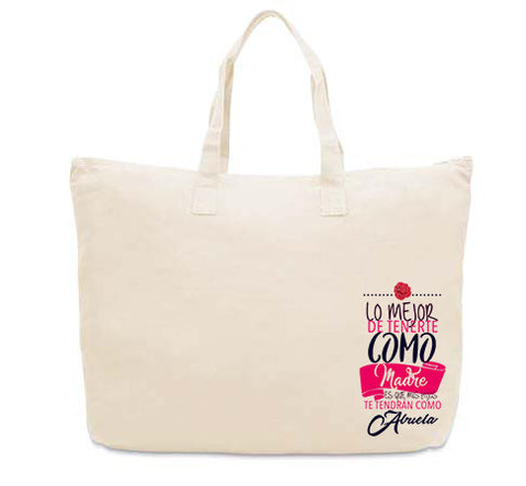 Love Mom CANVAS TOTE