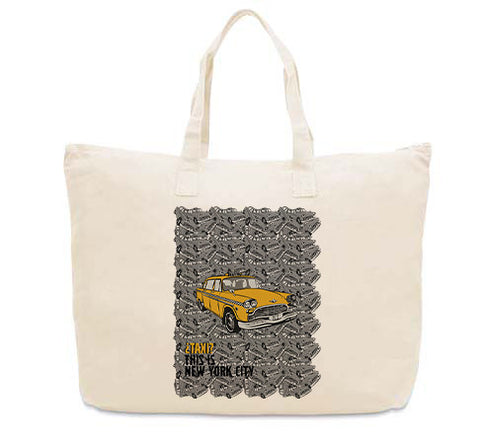 Super Taxi Wey in NY CANVAS TOTE